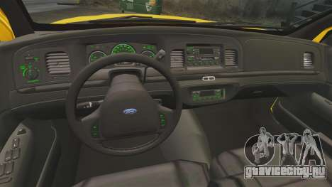 Ford Crown Victoria 1999 NYC Taxi v1.1 для GTA 4 вид сзади