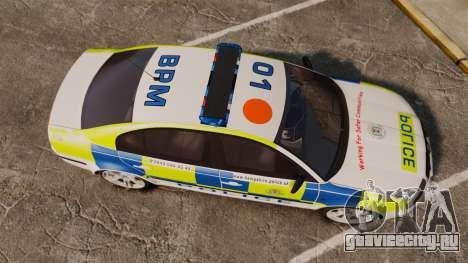 Skoda Superb 2006 Police [ELS] Whelen Edge для GTA 4 вид справа