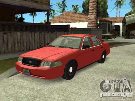 Ford Crown Victoria Unmarked Police для GTA San Andreas