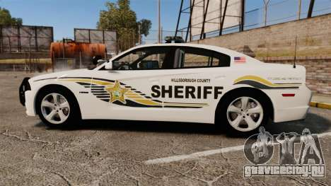 Dodge Charger RT 2012 Police [ELS] для GTA 4 вид слева