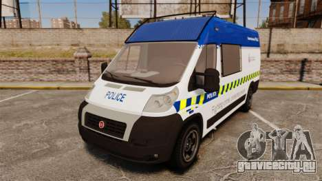 Fiat Ducato Manchester Police [ELS] для GTA 4
