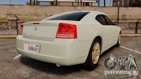 Dodge Charger RT Hemi 2007 для GTA 4 вид сзади слева