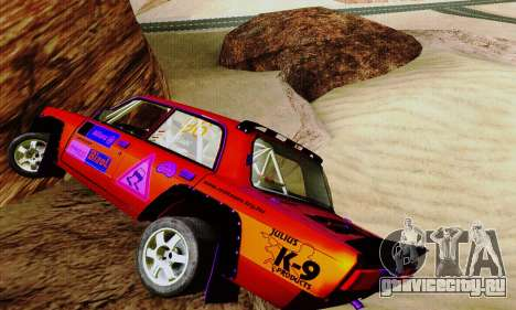 Lada 2105 VFTS для GTA San Andreas вид изнутри