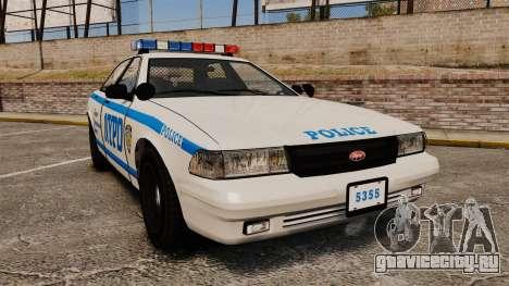 GTA V Vapid Police Cruiser NYPD для GTA 4