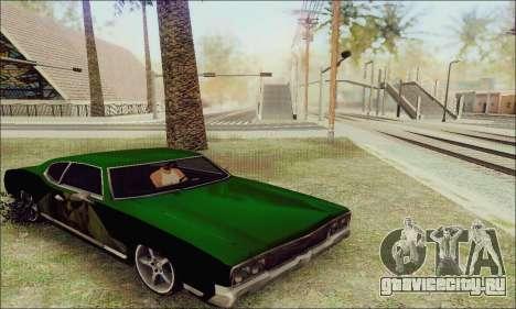 Modified Sabre Low для GTA San Andreas вид сзади