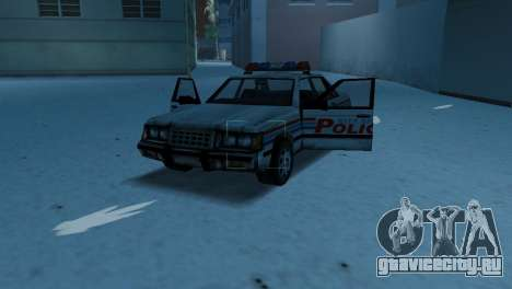 BETA Police Car для GTA Vice City вид изнутри
