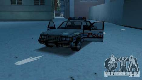 BETA Police Car для GTA Vice City вид изнутри