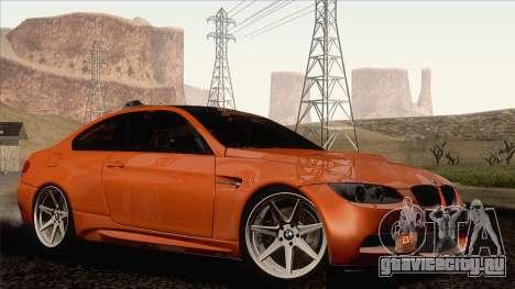 BMW M3 E92 2008 Vossen для GTA San Andreas вид слева