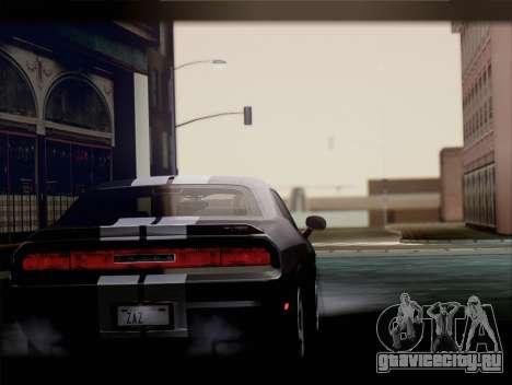 Dodge Challenger SRT8 2012 HEMI для GTA San Andreas вид справа