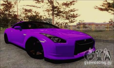Nissan GT-R Spec V для GTA San Andreas вид сзади