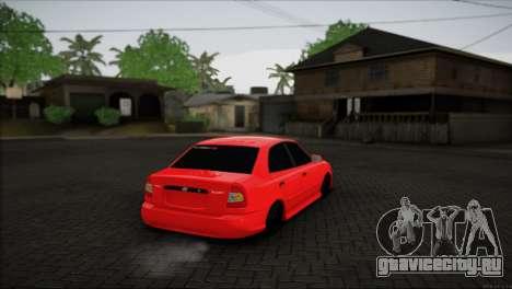 Hyundai Accent для GTA San Andreas вид слева