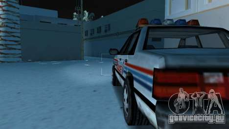 BETA Police Car для GTA Vice City вид справа