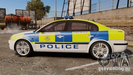 Skoda Superb 2006 Police [ELS] Whelen Edge для GTA 4 вид слева