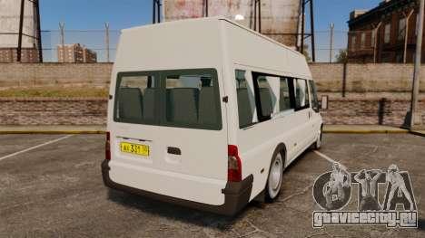 Ford Transit Passenger для GTA 4 вид сзади слева
