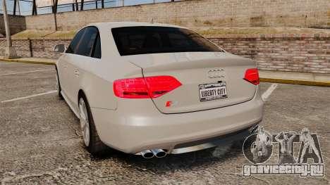 Audi S4 2010 для GTA 4 вид сзади слева