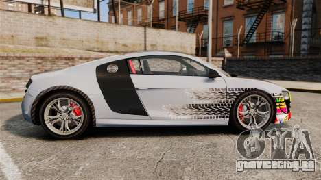 Audi R8 GT Coupe 2011 Drift для GTA 4 вид слева