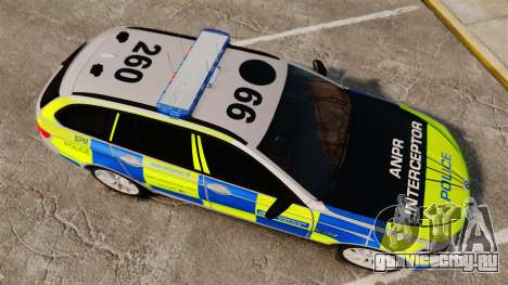 BMW 550d Touring Metropolitan Police [ELS] для GTA 4 вид справа