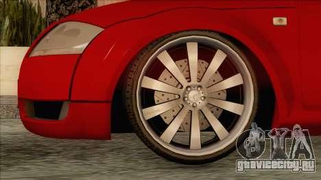 Audi TT 1.8T для GTA San Andreas вид сзади слева