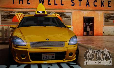 Declasse Premier Taxi для GTA San Andreas вид сзади