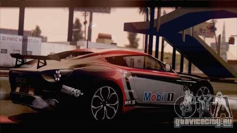 Aston Martin V12 Zagato 2012 [HQLM] для GTA San Andreas вид сзади слева