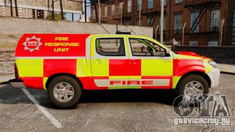Toyota Hilux British Rapid Fire Cover [ELS] для GTA 4 вид слева