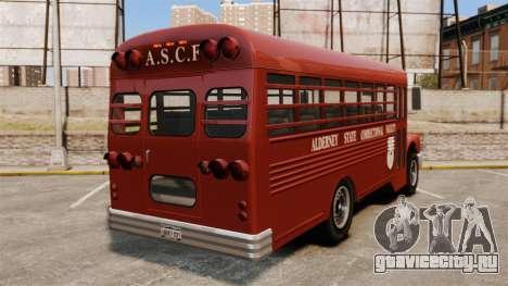 GTA IV TLAD Prison Bus для GTA 4 вид сзади слева