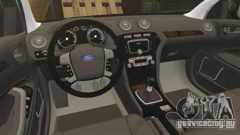 Ford Mondeo Unmarked Police [ELS] для GTA 4 вид изнутри