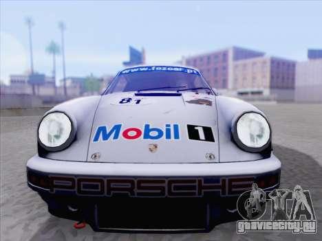 Porsche 911 RSR 3.3 skinpack 1 для GTA San Andreas вид сзади слева