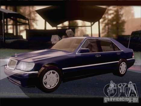 Mercedes-Benz S600 V12 V1.2 для GTA San Andreas вид сзади