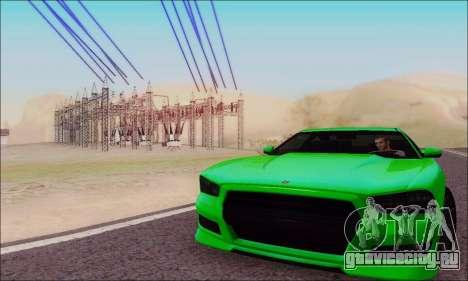 Buffalo из GTA V для GTA San Andreas вид сбоку