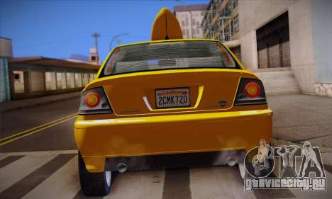 Declasse Premier Taxi для GTA San Andreas вид сверху