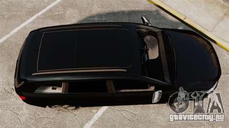 Audi Q7 Unmarked Police [ELS] для GTA 4 вид справа