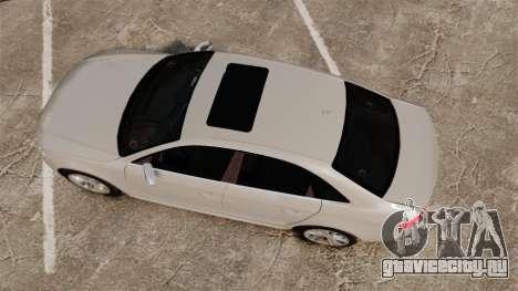Audi S4 2010 для GTA 4 вид справа