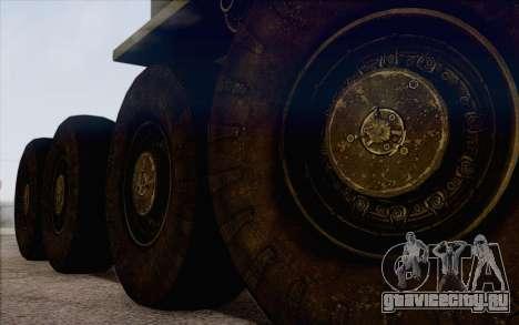 МАЗ 535 Военный для GTA San Andreas вид сзади слева