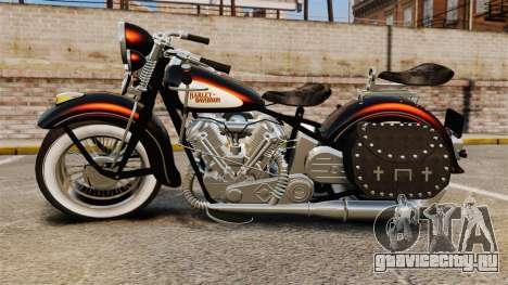 Harley-Davidson Knucklehead 1947 для GTA 4 вид справа