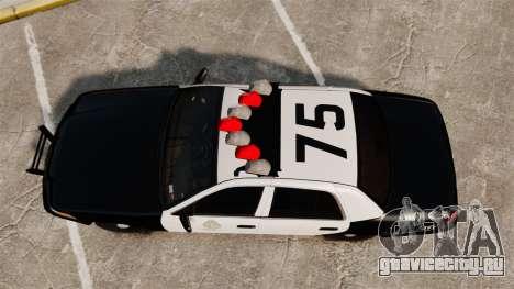 Ford Crown Victoria 1999 LAPD & GTA V LSPD для GTA 4 вид справа
