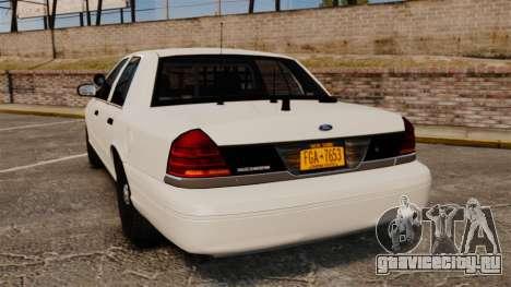 Ford Crown Victoria 1999 Unmarked Police для GTA 4 вид сзади слева