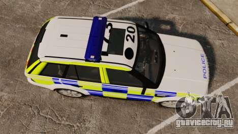 Range Rover Sport Metropolitan Police [ELS] для GTA 4 вид справа