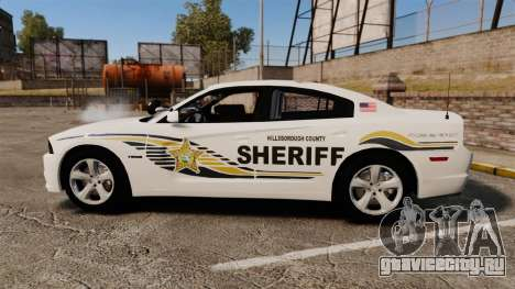 Dodge Charger RT 2012 Slicktop Police [ELS] для GTA 4 вид слева