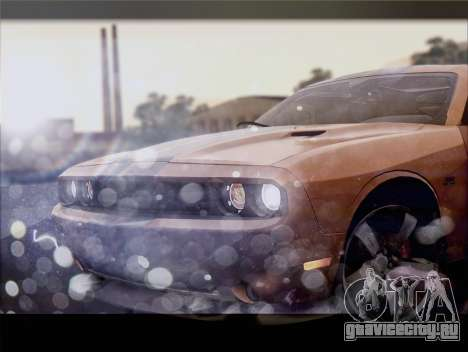 Dodge Challenger SRT8 2012 HEMI для GTA San Andreas вид изнутри