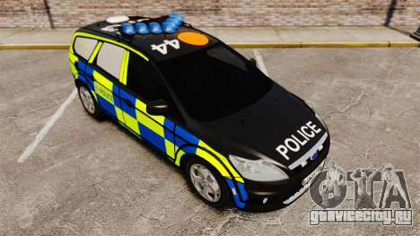 Ford Focus Estate 2009 Police England [ELS] для GTA 4 вид сзади