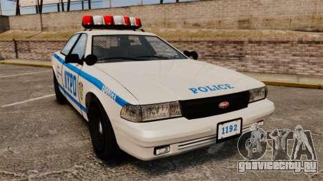 GTA V Police Vapid Cruiser NYPD для GTA 4