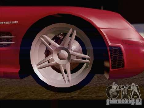 Mercedes SL500 v2 для GTA San Andreas вид справа