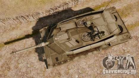 Leopard 2A7 для GTA 4 вид справа