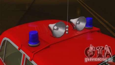 ВАЗ 21011 Пожарная охрана для GTA San Andreas вид сзади