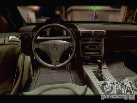 Mercedes SL500 v2 для GTA San Andreas вид сверху