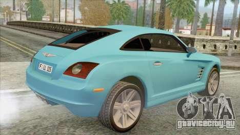 Chrysler Crossfire для GTA San Andreas вид слева