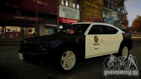 Dodge Charger LAPD 2008 для GTA 4 вид справа