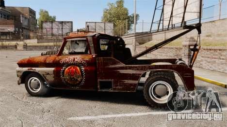 Chevrolet Tow truck rusty Rat rod для GTA 4 вид слева