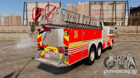 MTL Firetruck MDH1000 LCFR [ELS] для GTA 4 вид слева